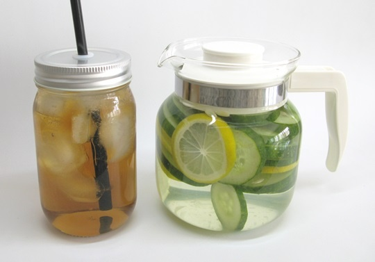 infused water iced tea